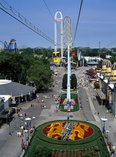 Cedar Point Midway : )..riding the sky ride was so we could give our legs a rest from walking.