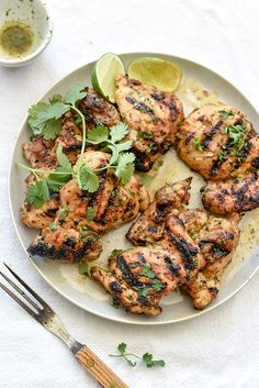 Cilantro Lime Grilled Chicken | foodiecrush.com