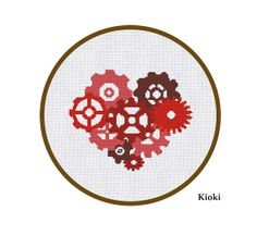 Cross Stitch Pattern Heart Instant Download on Etsy, $4.30 CAD