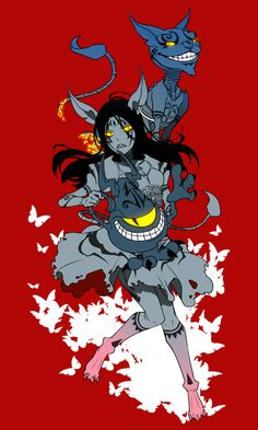 Alice and the Cheshire Cat from American McGee's Alice: Madness Returns