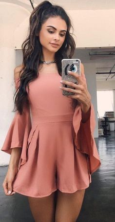 Dusty Pink Playsuit                                                                             Source                                                                                                                                                                                 More