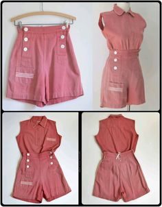 1940s sailor top and short
