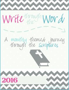 Write Through the Word: A Simple, Effective Scripture Learning Tool for Busy Women! Scripture writing is an amazing way to grow in your faith and knowledge of the the Bible!