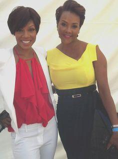 Wendy Raquel Robinson & Vivica A. Fox Black Celebrities, Celebs, Vivica Fox, Black Actresses, Pose For The Camera, Black Girls Rock, Celebrity Look, Black Star, Strong Women
