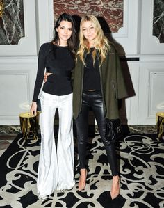 Pin for Later: The Stars Are Flocking to the Front Rows For the Last Day of PFW Kendall Jenner and Gigi Hadid Kendall Jenner and Gigi Hadid at the Balmain afterparty.