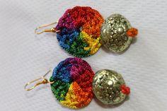 Rainbow Crochet Earrings by CHRYHAstyle on Etsy, $20.00
