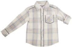 "The Dragon and The Rabbit ""Ivory + Blue Plaid"" Button Down Shirt"
