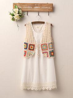 art of crochet cotton vest