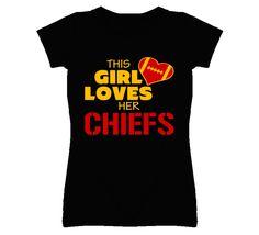 Heart Kansas City Chiefs Football Fan T Shirt Personalized