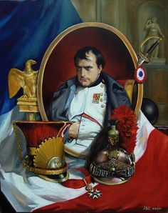 Original Celebrity Painting by Andrew Khalturin Napoleon Painting, Napoleon French, First French Empire, Napoleon Josephine, Stoner Art, French History, French Army, National Portrait Gallery, Napoleonic Wars