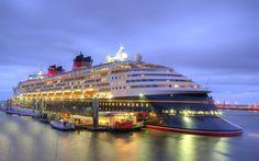 Descargar fondos de pantalla La Magia de Disney, cruceros, pier, el puerto, la noche