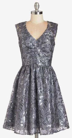 Decode 1.8 Twinkling at Twilight Dress in Grey