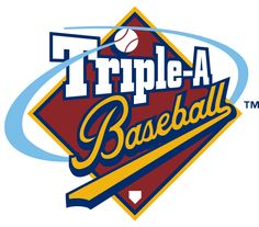 Pacific Coast League Primary Logo (1998) - Triple A Baseball written inside a red diamond