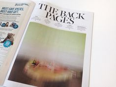 Creative Review - The Independent redesigns (more interested in image treatment for isabella blow exhibition here)