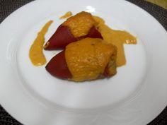 Paprika En La Cocina: Pimientos del piquillo rellenos de rape y gambas