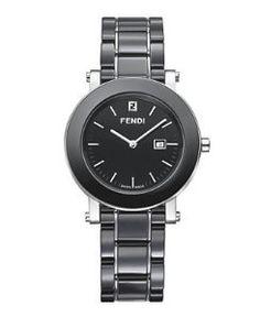 df7b1850642 Fendi Ladies Black Ceramic Date Swiss Quartz Bracelet Dress Watch F641110  Candy Jewelry