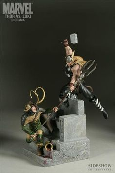 Thor vs Loki Sideshow Collectibles