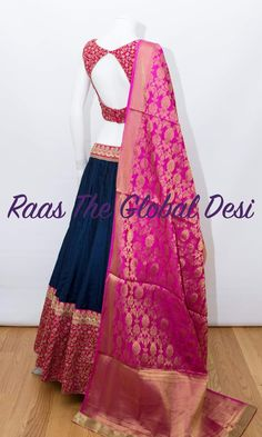 choli-Raas The Global The Global Desi Half Saree Designs, Choli Designs, Lehenga Designs, Choli Blouse Design, Saree Blouse Designs, Indian Designer Outfits, Indian Outfits, Indian Clothes, Lehenga Gown