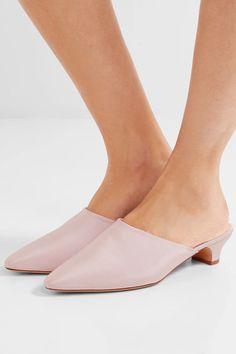 Mansur Gavriel - Elegant Faille Mules - Pastel pink - IT38