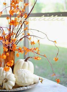 Wonen & seizoenen | Herfst decoratie met pompoenen en kalebassen • Stijlvol Styling - WoonblogStijlvol Styling – Woonblog