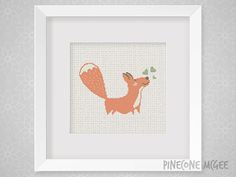 LITTLE FOX counted cross stitch pattern cute by PineconeMcGee