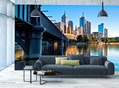Photo Wallpaper MURAL POSTER Melbourne Skyline & River Brigde