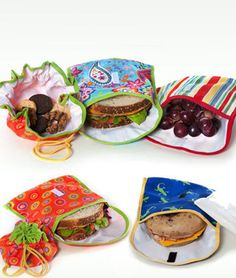 Stylish Sandwich & Snack Bags - great for kids and inexpensive