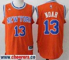 Men s New York Knicks  13 Joakim Noah Orange Stitched NBA Adidas Revolution  30 Swingman Jersey 6d9508ca7