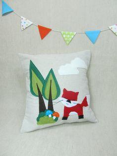Decorative Pillow Red Fox by ViolaStudio on Etsy, $49.00