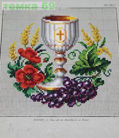 Gallery.ru / Фото #35 - 11 - temka69 Religious Cross Stitch Patterns, Cross Stitch Borders, Cross Stitch Charts, Cross Stitch Designs, Cross Stitch Embroidery, Cross Stitch Fruit, Cross Stitch Flowers, Faith Crafts, Cross Stitch Angels