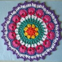 Crochet Mandala Wheel made by Alison, Scotland, UK for yarndale.co.uk