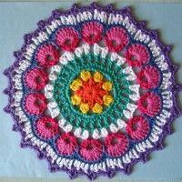 Crochet Mandala Wheel made by Alison, Scotland, UK for yarndale.co.uk