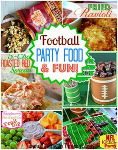 Football Party Food and Fun.Great DIY's and recipes for your Superbowl party! Party Snacks, Appetizers For Party, Appetizer Recipes, Party Trays, Yummy Appetizers, Football Party Foods, Football Food, Football Parties, Football Birthday
