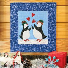 Catching Hearts: Whimsical Penguin Wall Quilt Pattern Dec - Jan 2013 issue