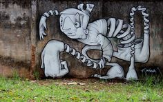 STREET ART - Wow! Another one amazing work by Andre Morbeck from Brazil