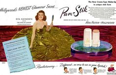 MAX FACTOR Pan Stik featuring Rita Hayworth 1948 | Flickr - Photo Sharing!