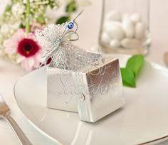 Gümüş Rengi Pullu Kutu #nikah #şekeri