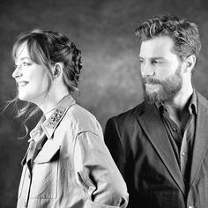 New outtakes from the USA Today photo shoot that Jamie Dornan and Dakota Johnson did!! Love their faces here!! 50 Shades of Christian and Ana