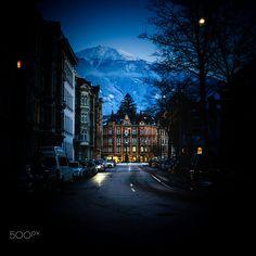 Innsbruck at dusk by Johann Trojer / 500px Innsbruck, Dusk, Austria