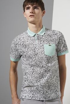 Lacoste Live Short Sleeve Mini Pique All Over Camouflage Printed Polo Shirt