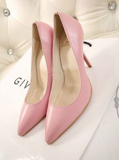 Christian Louboutin 2014 New Style Pink High Heel Shoes