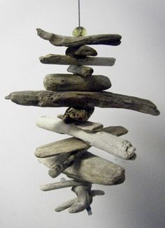Driftwood Mobile. You could add a light to this too for a killer pendant lamp/chandelier