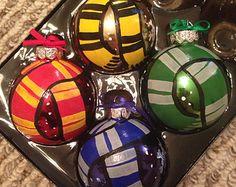 Harry Potter Scarves Set of 4 Ornaments