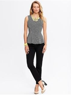 what to buy at banana republic--LOVE this top. So slimming!