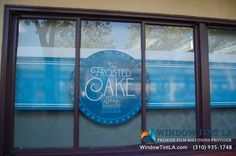 The Frosted Cake Shop sacramento-window-graphics Window Graphics, Cake Shop, Store Fronts, Sacramento, Neon Signs, Windows, Display, Frosted Window, Business