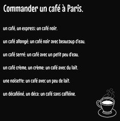 #French #Communication #Francais Commander café