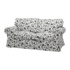 EKTORP Two-seat sofa - Hovby white/black  - IKEA