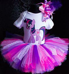 Mi pequeño pony Twilight Sparkle tutú primera 1 º 2 º traje de
