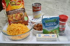 Chicken Bacon Ranch Potato Casserole is a perfect side dish or even a one pan meal. It is the basic hash brown casserole recipe with added ingredients. Bacon Potato Casserole, Bacon Ranch Potatoes, Chicken Bacon Ranch Casserole, Hash Brown Casserole, Chicken Recipes Healthy Oven, Breaded Chicken Recipes, Healthy Recipes, Frozen Potatoes