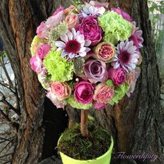 A tree of colors #flowerdipity #colors #tree #flowers #roses #happiness #love #summer
